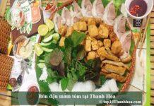 Bún đậu mắm tôm tại Thanh Hóa
