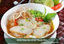 Quán bún chả cá tại Thanh Hóa